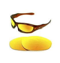 NEW POLARIZED CUSTOM FIRE RED LENS FOR OAKLEY MONSTER DOG SUNGLASSES